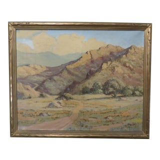 Irving Lucius Davis Landscape Painting, Framed For Sale