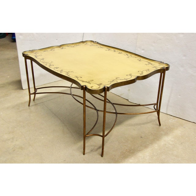English Painted Tray Top Coffee Table For Sale - Image 3 of 9