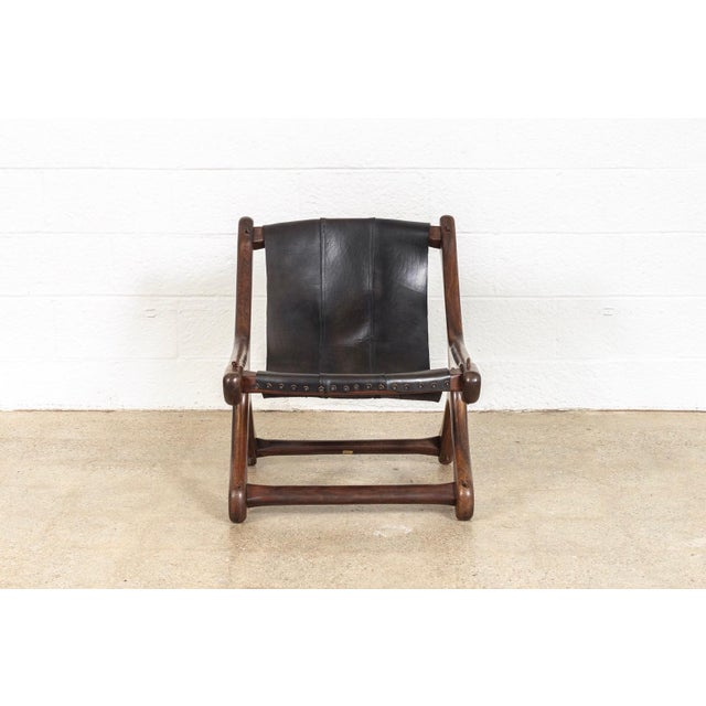 Wood Mid Century Mexican Modern Don Shoemaker Sling Chair For Sale - Image 7 of 10