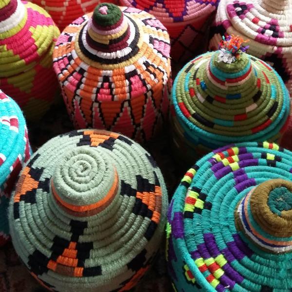 Moroccan Woven Basket - Image 2 of 2