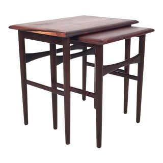 Vintage Danish Rosewood Nesting Tables - A Pair