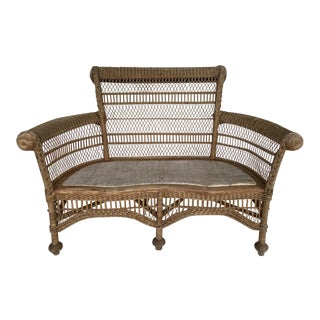 Wakefield Rattan Co. Settee For Sale