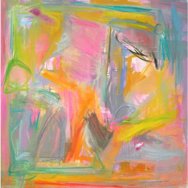 """Abstract """"Midday Miami"""" by Trixie Pitts 36""""x36"""" - Image 1 of 4"""