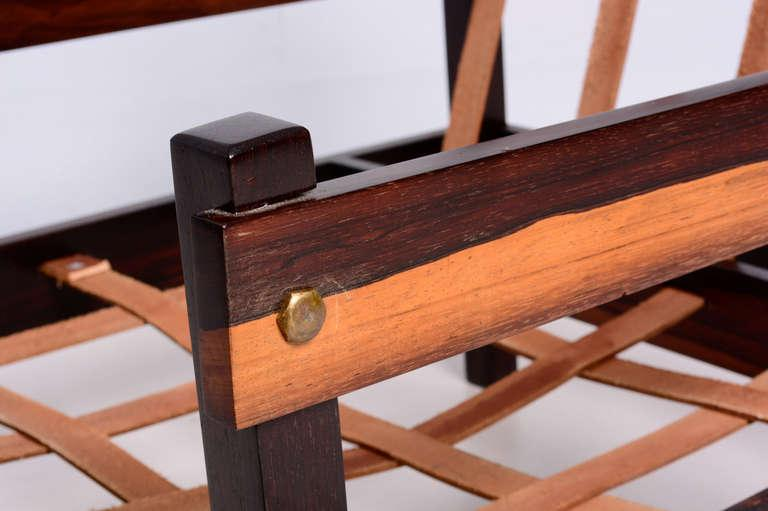 Gold Pair Of Brazilian Rosewood Chairs For Sale   Image 8 Of 10