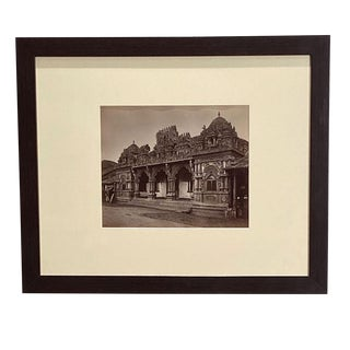 Antique Photograph of a Hindu Temple For Sale