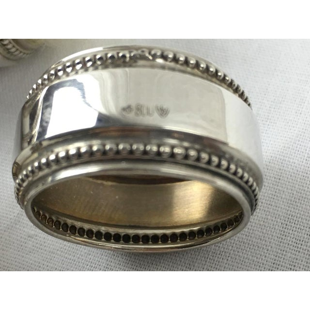 Antique Silver Napkin Rings - Set of 6 - Image 7 of 7