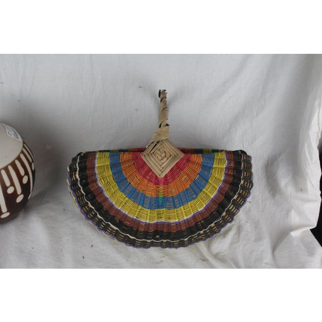 Mid 20th Century 20th Century Zulu Telephone Wire Rainbow Basket For Sale - Image 5 of 7
