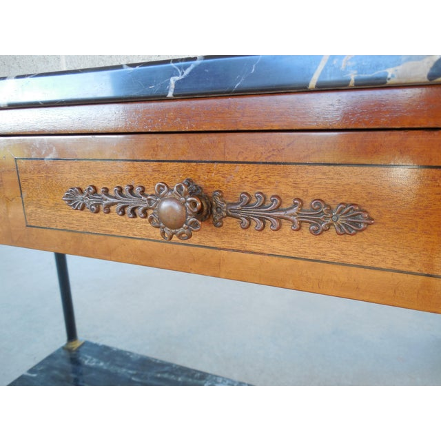 Bethlehem Furniture French Regency Marble Top Console - Image 5 of 10