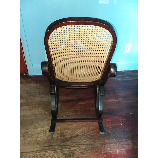 Traditional Thonet-Style Rocking Chair For Sale - Image 3 of 5