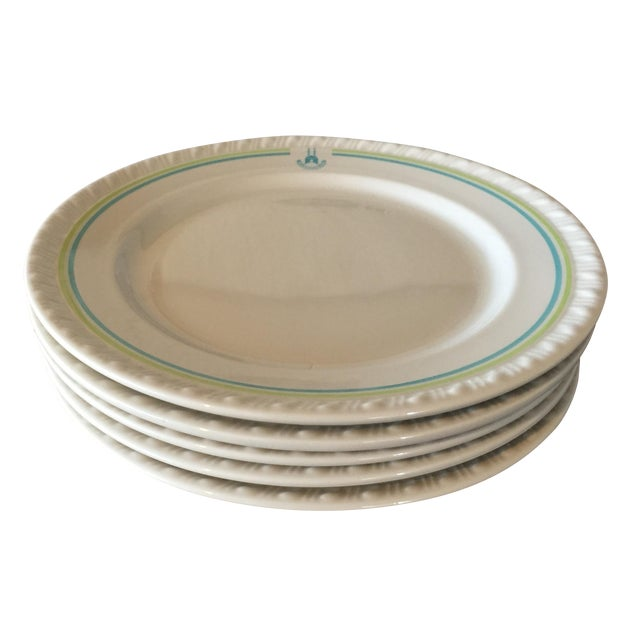 Restaurant Ware Plates with Castle - Set of 6 - Image 1 of 8