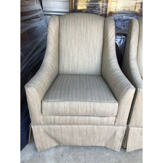 Early 21st Century Ethan Allen Lounge Accent Chairs- A Pair Preview