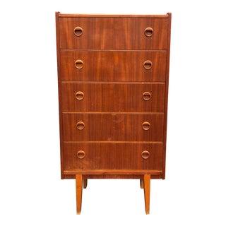 1970s Scandinavian Modern Style Teak High Boy Dresser For Sale