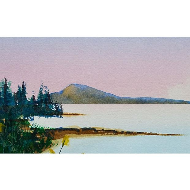 Contemporary Seascape Watercolor Painting by Cameron O'Neal For Sale - Image 3 of 3