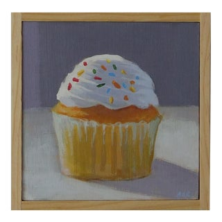 Vanilla Cupcake with Sprinkles by Anne Carrozza Remick