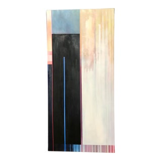 """""""Handball"""" Contemporary Abstract Geometric Oil Painting by Chamberlin Newsome For Sale"""
