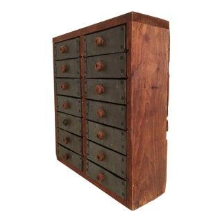 Moving Sale - Tin Drawer Tramp Art Storage Box