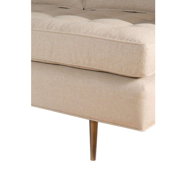 Customizable Brown Tufted Sofa For Sale - Image 4 of 6