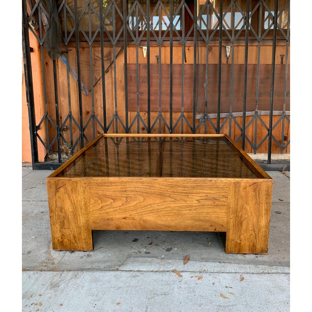 1960s Mid Century Modern Drexel Heritage Wood Briar Coffee Table For Sale - Image 13 of 13