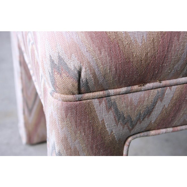 1980s Contemporary Flamestitch Parsons Ottomans, a Pair For Sale - Image 9 of 10