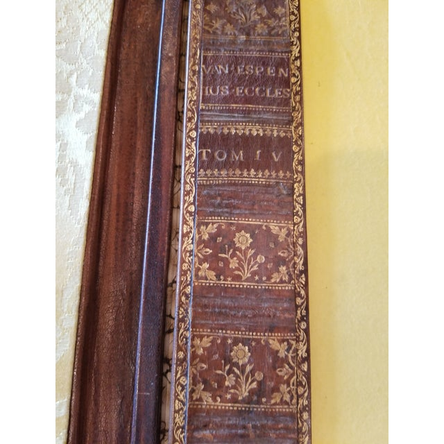 Antique Gilt Leather Double Folding Blotter For Sale - Image 10 of 13