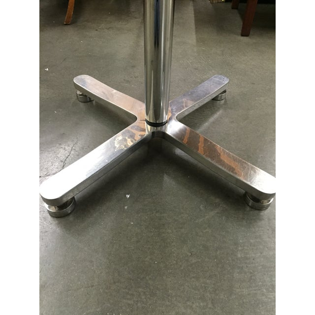 Brueton Custom Stainless Steel & Granite Table For Sale - Image 5 of 6