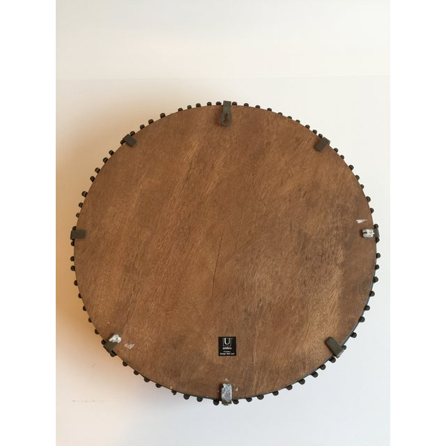 Vintage Umbra Rattan Wall Mirror by Matt Carr; Albini Style - Image 5 of 9