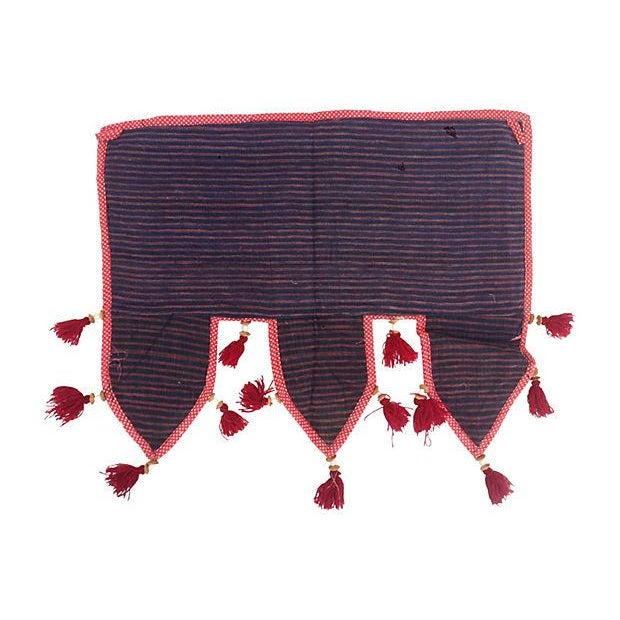 Indian Embroidered Mirrored Door Valance For Sale - Image 4 of 4