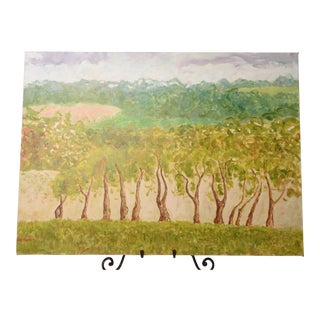 "Original Landscape Painting Trees Abstract Expressionism Landscape ""Scenic View"" For Sale"