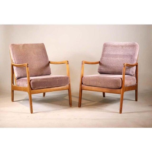 France & Daverkosen France and Daverkosen Teak Armchairs, Mid-Century Modern For Sale - Image 4 of 13