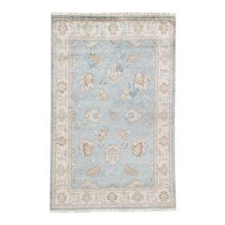 Jaipur Living Geneva Hand-Knotted Floral Light Blue & Ivory Area Rug - 8′ × 10′ For Sale