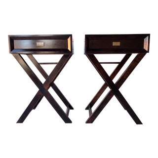 Modern Black End Tables - a Pair For Sale