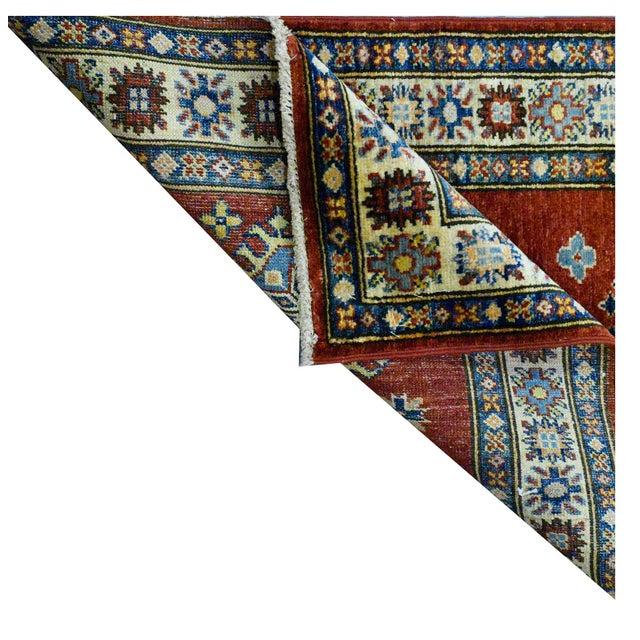 Afghan Afghan Kazak Wool Rug - 2'x6'2'' For Sale - Image 3 of 4