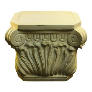 Neoclassical Plaster Dining Table Base