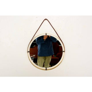 Round Mirror With Leather Strap Preview