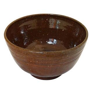 Tobacco Spit Glaze Jugtown Bowl For Sale
