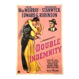 """1944 """"Double Indemnity"""" Hollywood Movie Poster For Sale"""