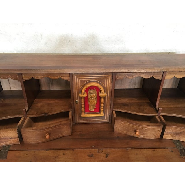 Late 18th Century 18th Century Spanish Walnut Marquetry, Chest of Drawers With Flap For Sale - Image 5 of 12