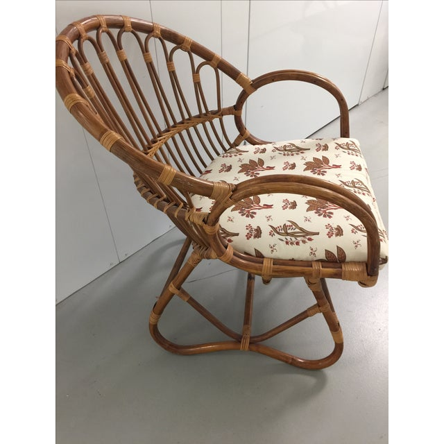 Albini/Boesen Style Sculpted Rattan Chair - Image 3 of 6