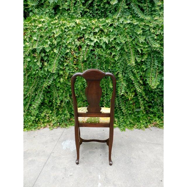 Textile Antique Botanical Cactus Chair For Sale - Image 7 of 9