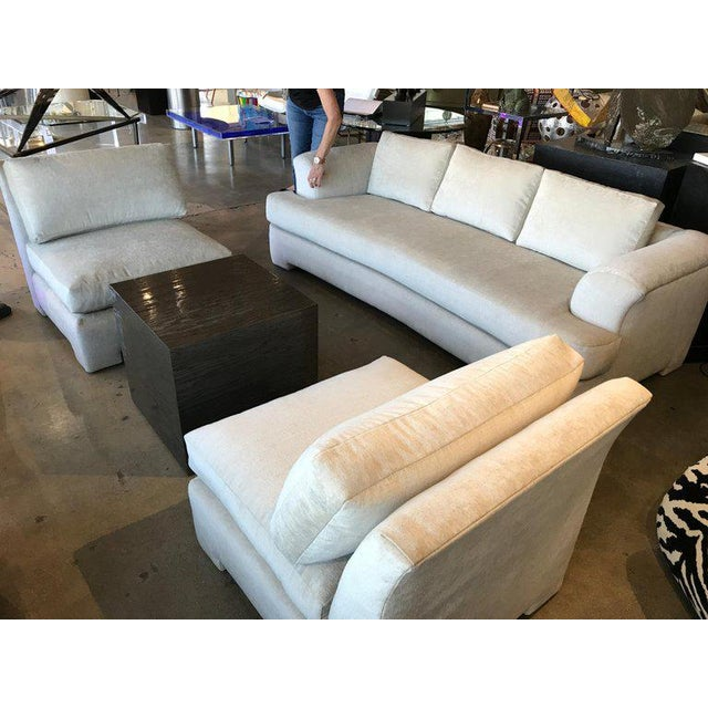 Marge Carson Hollywood Regency Sofa and Chairs Redone in Knoll Summit Fabric For Sale - Image 9 of 13