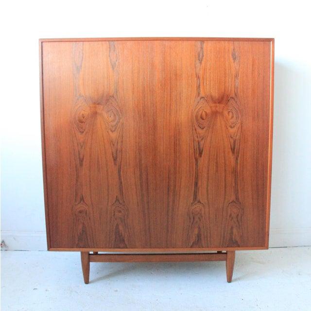 Vintage Falster Mid-Century Modern Teak Highboy Dresser - Image 6 of 9