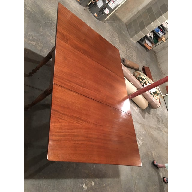 Antique Sheraton Walnut Pembroke Table For Sale - Image 11 of 11
