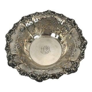 Gorham Sterling Silver Flower Garlands Pierced Fruit Bowl For Sale