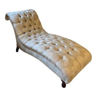 Modern Mitchell + Gold Chaise Lounge For Sale