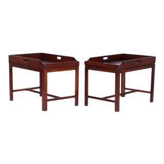 Georgian Style Tray Tables - A Pair For Sale