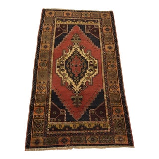 Anatolian Traditional Faded Oushak Rug For Sale