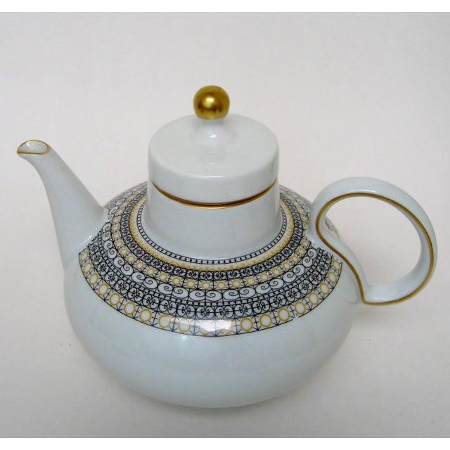 Ceramic Argentinian Porcelain Teapot For Sale - Image 7 of 9