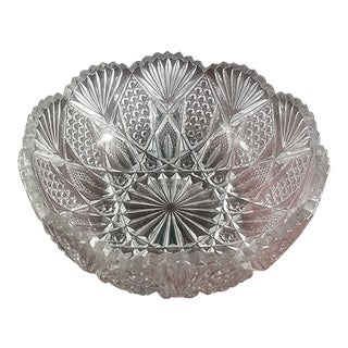 American Brilliant Diamond Fan Pattern Bowl