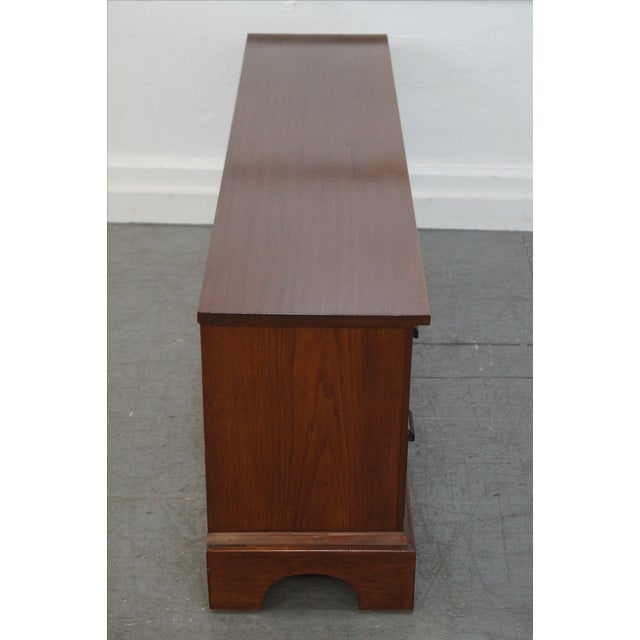 Rustic 19th Century Low 8 Drawer Apothecary Cabinet For Sale - Image 3 of 9