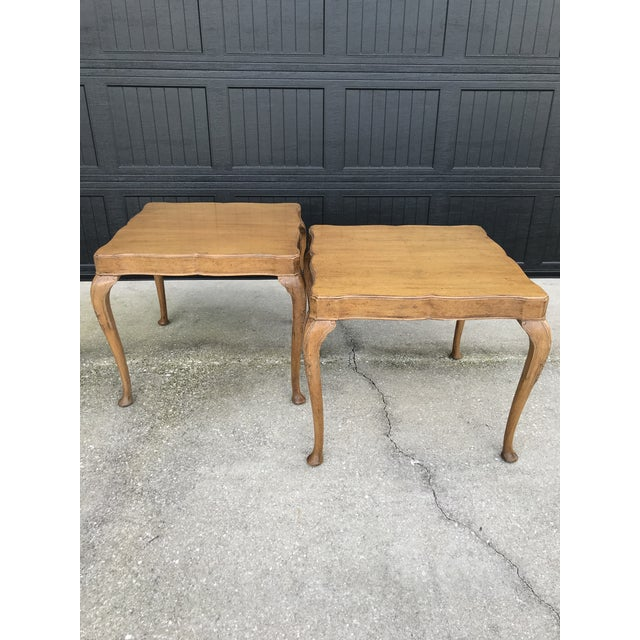Wellington Hall French Country Queen Anne Side Tables-A Pair For Sale - Image 11 of 13